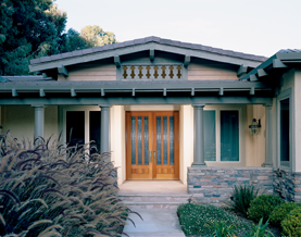 "Thinking of a facelift for your home? ""How to Choose a Front Door"" breaks down choosing a new door into 4 steps: location, size, door elements and material."