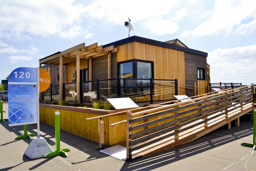 Exterior shot of ECHO home, built by Team Ontario with JELD-WEN windows and doors, for the U.S. Department of Energy Solar Decathlon.