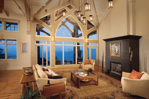 Image of a room with a wall of windows offering a stunning view.