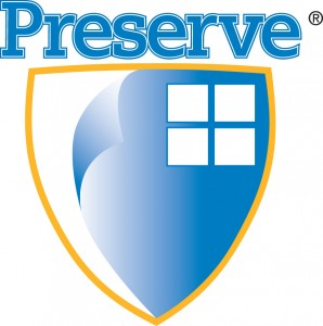 Preserve Protective Film Blue and Gold Logo