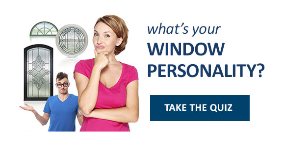 "A quizzical looking man and woman with the caption, ""What's your window personality?"" and a clickable button that takes you to the quiz."