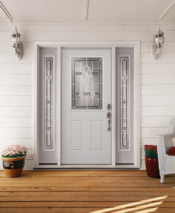 Image of a clean, white front door.