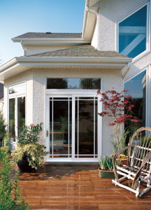 outside view of sliding patio doors